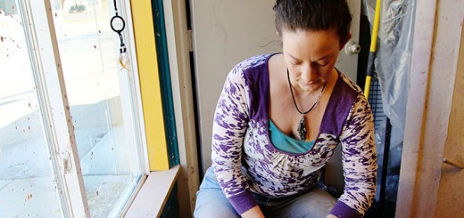 Erin O'Rear, owner of The Wandering Peacock, throws pottery in her shop. (Photo by Feel Good Now)