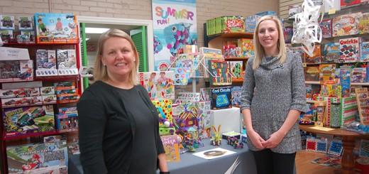 Monica Cardella and Elizabeth Gajdzik with INSPIRE (photo by Heather Lusk)