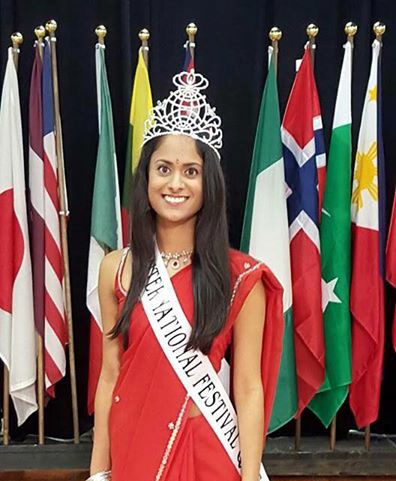 CHS graduate Prakriti Bhargava was crowned 2016 Indy International Festival queen. (submitted photo)