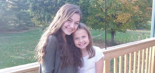 Cynthia Kauffman, 15, and sister Claire Kauffman, 9, are both performing in professional theater productions for the first time this fall. (Submitted photo)