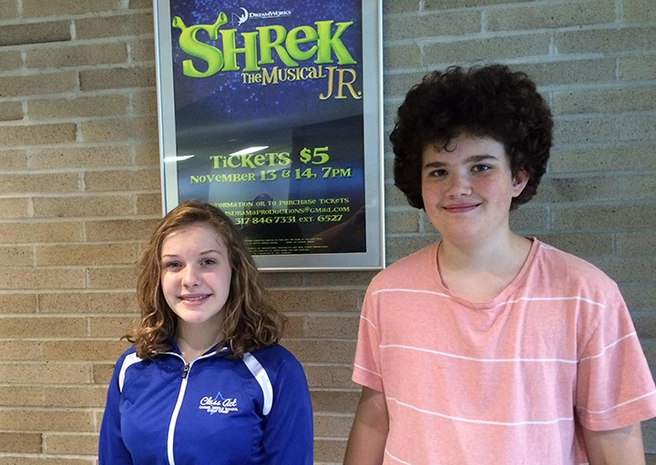 "Evelyn Harrison and Kyle Fleckenstein will perform in ""Shrek The Musical."" (Submitted photo)"