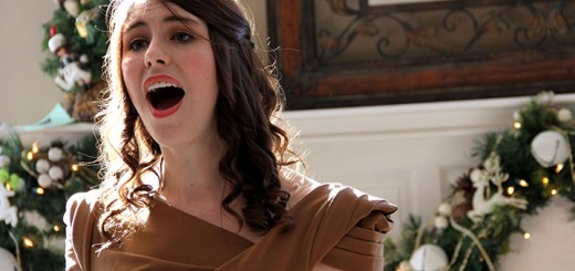 Christina Barnes sings inside a Zionsville home during a previous year's Carol of Homes. (Photo by Syndii McCreary)