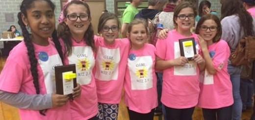 The GirlBotz 2.0 team is, from left, Brianna Roundtree, Zoe Klotz, Colleen Squier, Amanda Pfeifer, Katherine Readinger and Olivia Mulholland.