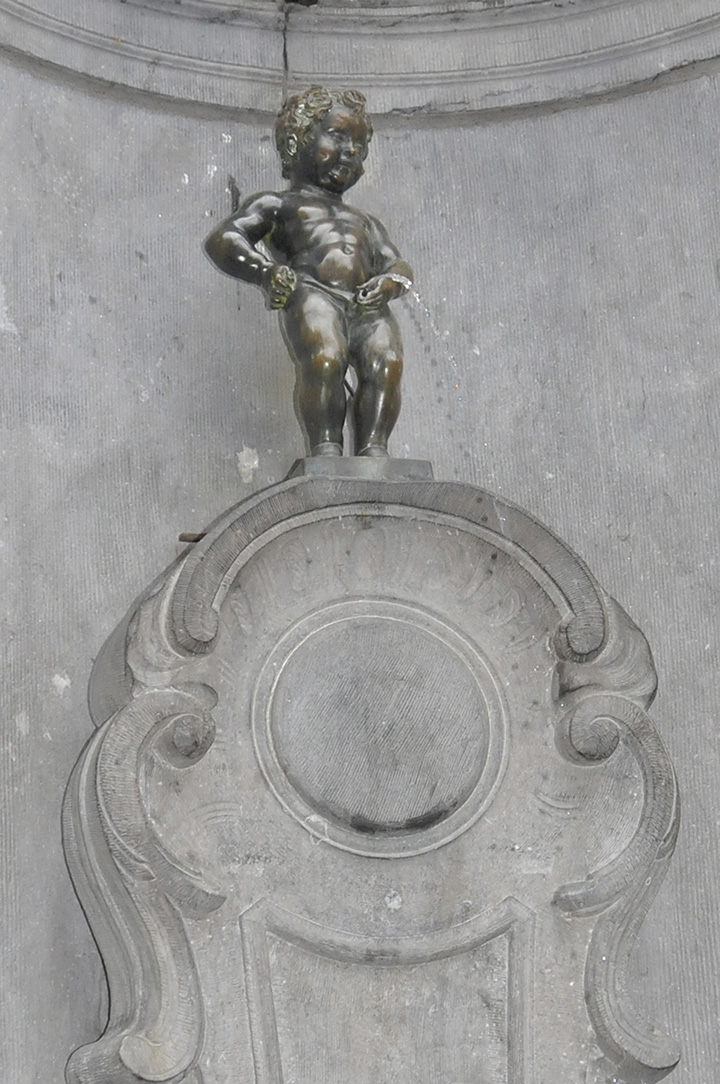 Manneken Pis in Brussels, Belgium. (Photo by Don Knebel)
