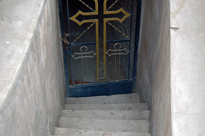 Stairs to Nile in Church in Ma'adi, Egypt (Photo by Don Knebel)