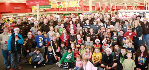 More than 40 kids were partnered with employees of the Hamilton Co. Sheriff's Dept. for the event. (Submitted photo)