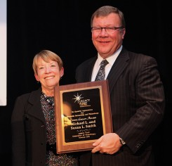 Sue and Mike Smith accept the Living Legacy Award. (Submitted photo)