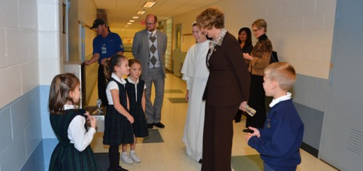 Rep. Susan Brooks tours Our Lady of Mount Carmel School. (submitted photo)