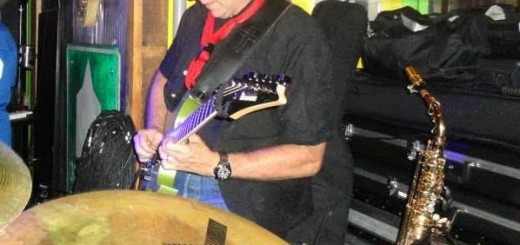 Kevin Hunt works on musical equipment at Kingston's. (Submitted photo)