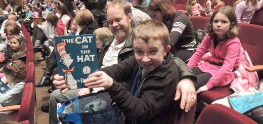 "Nick Schweigel with his father, Terry Schweigel, at last year's performance of ""The Cat in the Hat."" (Submitted photo)"
