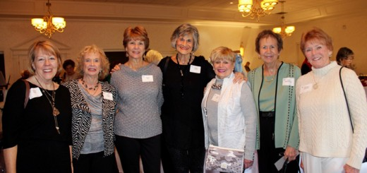 Susie Fucik (Geist), Janet Dankert (Indianapolis),Sandy Ellis (Fishers), Phyllis Lewis (Geist),Janet Burt (Fishers), Jan Miltenberger (Fishers) and Barbara Goodwin (Geist) had a great time attending the 2015 Assistance League of Indianapolis luncheon.