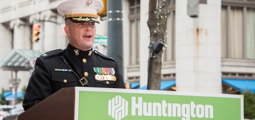 Scott Willis speaks at a Veteran's Day event in downtown Indianapolis. (Submitted photo)