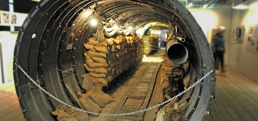 Espionage Tunnel in Berlin's Allied Museum. (Photo by Don Knebel)