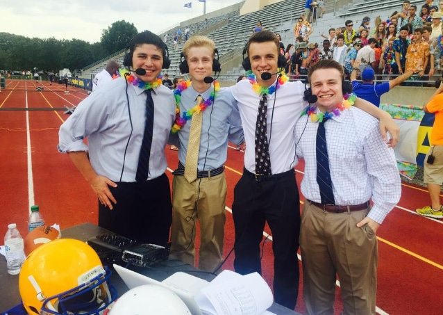 From left, Brady Klain, JD Arland, Jack Kizer and Sam Weiderhaft, members of the WHJE radio station. (Submitted photo)
