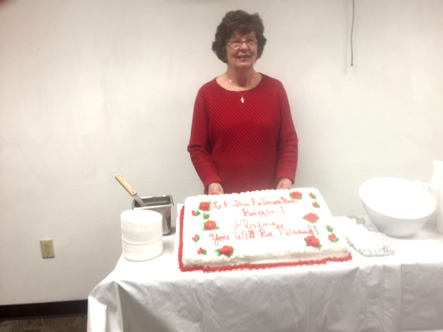 Elaine Phemister celebrates 47 years at St.Vincent at her retirement party. (submitted photo)
