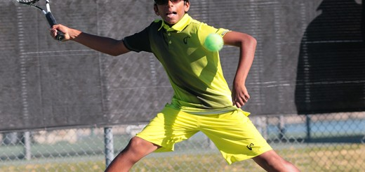 Nishesh Basavareddy competes in the United States Tennis Association Winter Championship in Tucson, Ariz. (submitted photo)