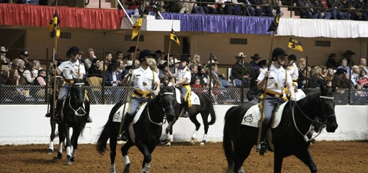 Carmel resident Sean Kim, second from right, a sophomore at Culver Military Academy, performed Jan. 22 and 23 with the Black Horse Troop Lancer Platoon at the Fort Worth Stock Show and Rodeo in Fort Worth, Texas. The 22-member unit includes students from seven states and four countries. Culver Military Academy had not performed at the show since 1998.