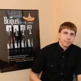 Aaron Krerowicz of Carmel bills himself as the nation's only full-time Beatles scholar. He will be giving a presentation about the Fab Four at the Hussey- Mayfield Memorial Public Library on Feb. 1. (Photo by Theresa Skutt)