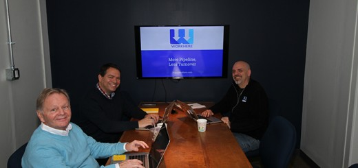 From left, CEO Howard Bates, CTO Rick Wehrle, and COO Mike Seidle of Work Here. (Submitted photo)