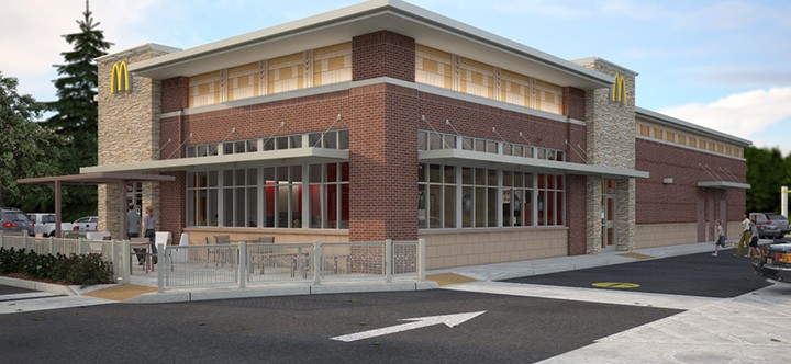 A rendering of what the completed McDonald's will look like. (Submitted rendering)