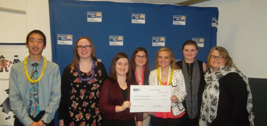 Becca Trainor, third from left, and other WHS students were awarded a grant last year for a Girl Scouts project. (Submitted photo)