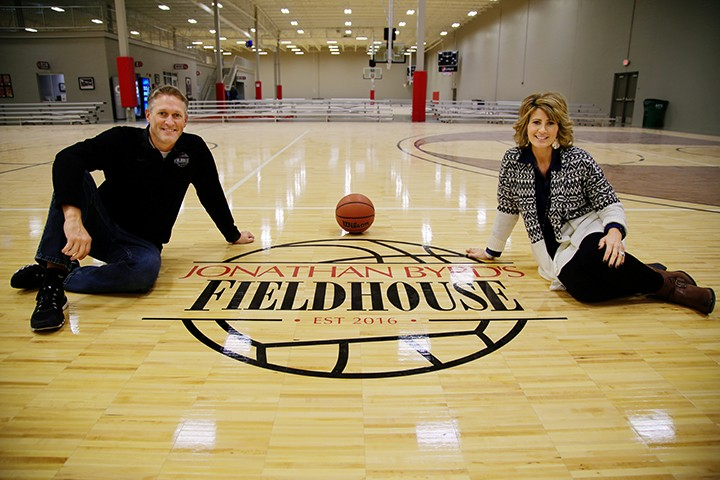 Rod Sinn with wife Michelle at Jonathan Byrd's Fieldhouse, which will host the Nike EYBL. (File photo)