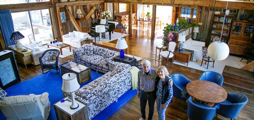"Cynny and Robert Robinson live in a home known as the ""blue barn."" (Photo by Feel Good Now)"