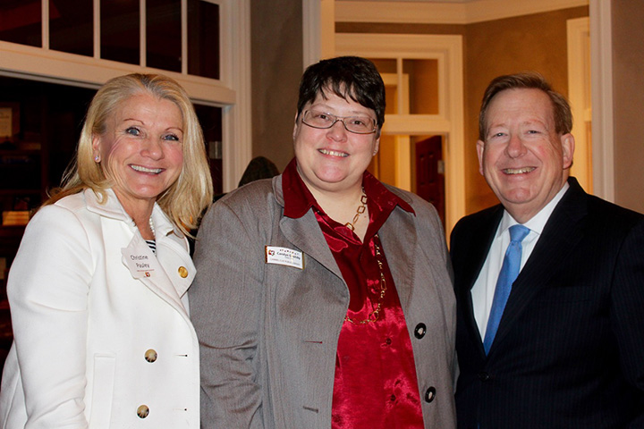 Christine Pauley, Carolyn Goolsby and Mayor Jim Brainard enjoyed mingling with distinguished guests and friends of the library at the Open House.  (Photos by Amy Pauszek for Current Publishing LLC. Copyright 2016. All Rights Reserved.)