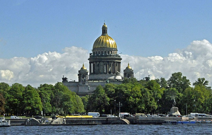 St. Isaac's Cathedral from Neva River. (Photo by Don Knebel)