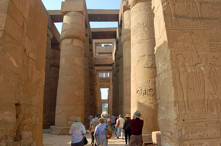 Hypostyle hall at Karnak, near Luxor, Egypt. (Photo by Don Knebel)