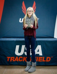CMS student Anna Christie was named the USA Track and Field Indiana Athlete of the Year for the 11 to 12 girls group.