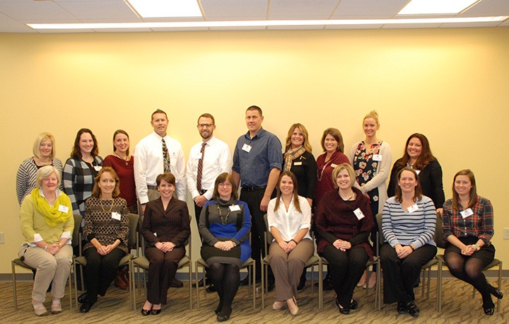 The CEF 2015 fall grant winners include, back row from left, Laura Hayes, Jenna Adams, Beth Leffler, Matt Moeller, Kyle Schulenborg, Dan Marble, Jill Schipp, Jessica Niccum, Carli Worthman, Vanessa Trammell; and front row from left, Becky Campbell, Hella Rumschlag, Kristen Taylor, Lila Torp, Stephanie Swartzendruber, Erin Boyce, Jill Hall and Sara Fernkas. (Submitted photo)