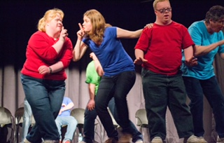 From left, Kelly Kaser, Michelle Yadon, Dan Peeler and Doreen Fatula participate in the Roundabout Playback Troupe. (Submitted photo)