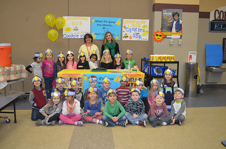 Abbie Mann's kindergarten class led a weeklong initiative that helped raise about $16,000 for the Leukemia & Lymphoma Society. (submitted photo)