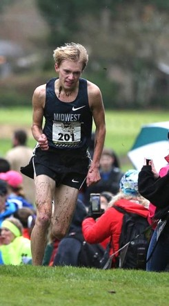 Ben Veatch nears the finish line at the Nike Cross Nationals. (Submitted photo)