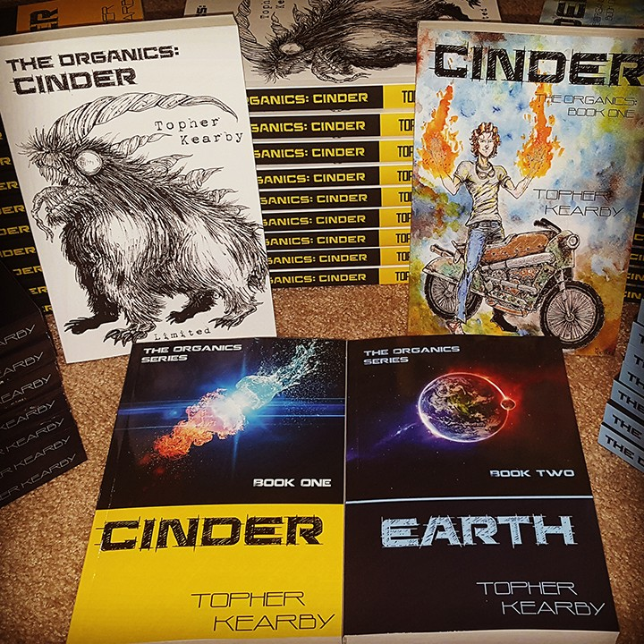 """""""Cinder"""" and """"Earth"""" are the first two books in The Organics trilogy. (Submitted photo)"""