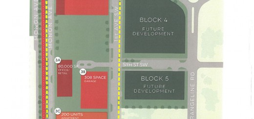 This map shows an updated plan for development in the Midtown area. (submitted photo)