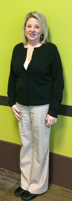 After photo-Kim Keck has lost 50 pounds by making healthier food choices and taking time to walk at her office. (submitted photos)
