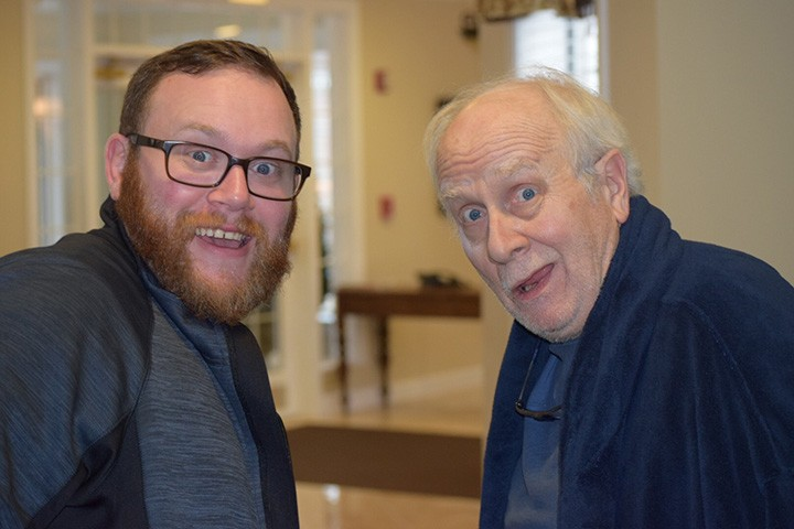 Director Benjamin Dewhurst, left, with Richard Henzel, who plays Sgt. Franklin Spencer, the lead character. (submitted photo)