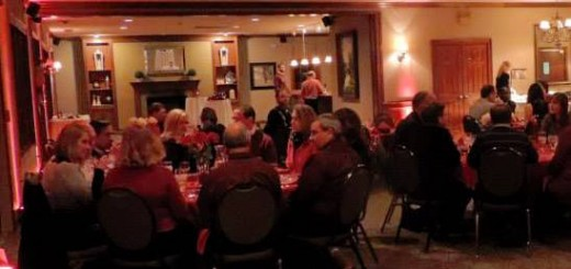 """Sweethearts enjoy the evening during last year's """"Paint the Town Red"""" Valentine's Day dinner at River Glen Country Club. (Submitted photo)"""