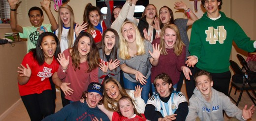 Friends and family gathered Feb. 6 to celebrate the sweet 16th surprise birthday party for Makayla Hatcher, a Fishers High School cheerleader with Down syndrome. Friends pictured include, back row from left, Josh Booze, Macy McGrath, Robin Brown, Hannah Hart, Kaitlyn Finefrock, Megan Gehris; middle row from left, Kiki Miller, Hunter Worth, Molly Trent, Sophie Sweazy, Alli Kimmell, David Sage; front row from left, Keegan Logan , Lauren Fuscaldo, Makayla Hatcher, Tyler Renschen and Peanut Perkins. (Photos by Amy Pauszek)