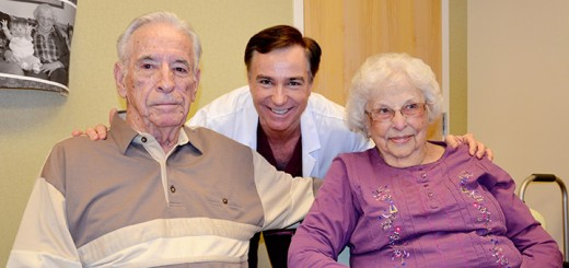 """Albert """"Bud"""" Rees, IU Health Saxony cariologist Dr. Edward Harlamert and Beth Rees celebrated the Rees's 70th wedding anniversary Feb. 1. (Submitted photo)"""