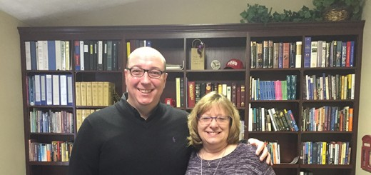 Graham Richards and Lisa Gibson have worked together to plan a concert in celebration of Central Christian Church moving to Westfield. (Photo by Anna Skinner)