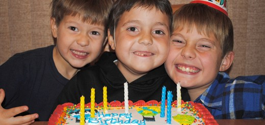 Spencer Lancaster, who lost his life in 2011 to cancer, celebrates his birthday with brothers Hunter, left, and Noah, right. (Submitted photo)
