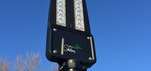 Three solar streetlights were installed in downtown Westfield last month. (Submitted photo)