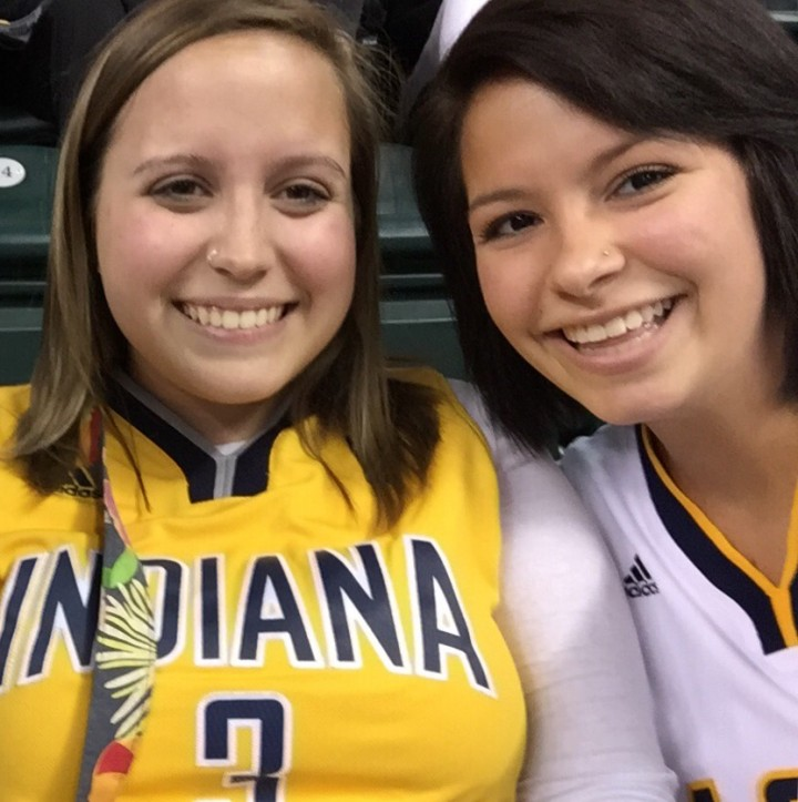 Dani Staley, left, will be putting on a fundraiser at Ball State University to benefit her best friend, Katlyn Stevenson, right, who suffers from a rare form of adrenal cancer. (Submitted photo)