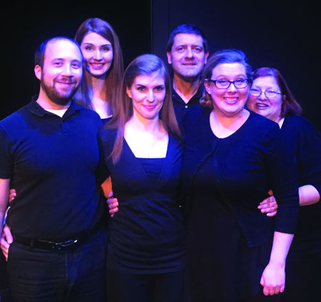 "Vince Accetturo, Lauren Leigh, Michelle Wafford, Darrin Gowan, Rebecca DeVries McConnell, Denise Fort who will perform in the Carmel Community Players; ""Forbidden Broadway: Greatest Hits Volume I."" (Submitted photo)"