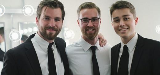 From left, seniors Lincoln Smith, Lars Feste, and Mike Phipps.