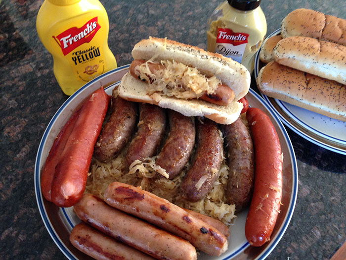 To make the plate expandable for larger amounts of guests and for children, cook up some precooked stadium brats, and for the kids, apple chicken sausages. (Submitted photo)