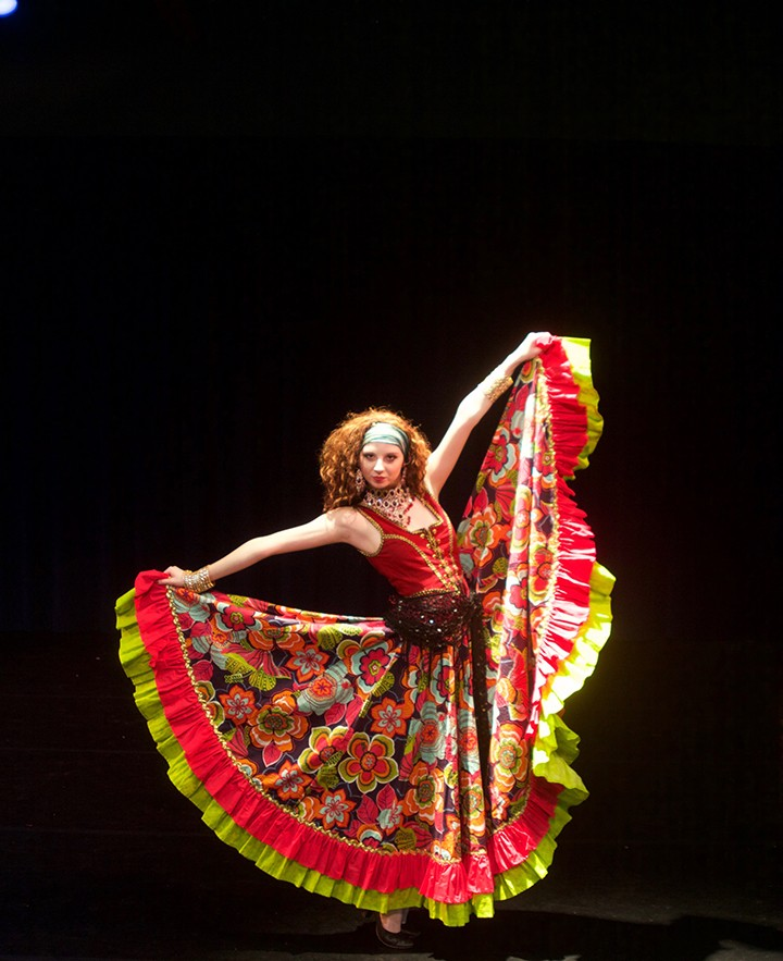 "Abbie Lessaris dances in costume for ""Passport."" (Submitted photo)"